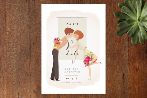 Sweetheart Kiss Save the Date Cards