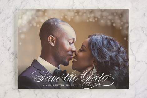 Twinkling Lights Save the Date Cards