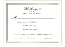 Eloquence Foil-Pressed RSVP Cards