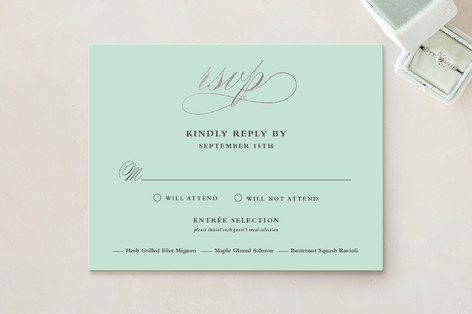 Notable Foil-Pressed RSVP Cards
