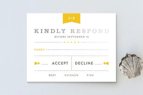 Sunshine Day Foil-Pressed RSVP Cards