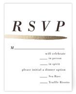 Watercolor Frame Foil-Pressed RSVP Cards