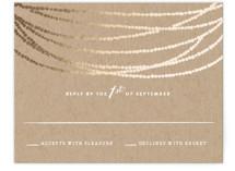 Gold Rush Foil-Pressed RSVP Cards