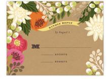 Floral Canopy Foil-Pressed RSVP Cards