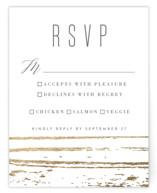 Gilded Woodgrain Foil-Pressed RSVP Cards