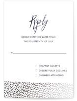 Sprinkled Love Foil-Pressed RSVP Cards