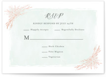 Blooming Corners Foil-Pressed RSVP Cards
