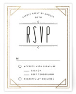 Framed Deco Elegance Foil-Pressed RSVP Cards