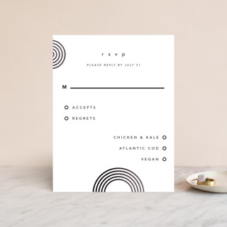 Connected Foil-Pressed RSVP Cards