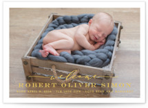 Modern Welcome Birth Announcements