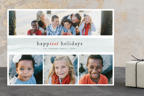 Marble Holiday Photo Cards