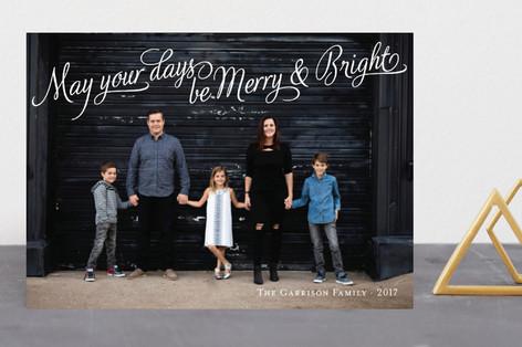 Bright Elegance Holiday Photo Cards