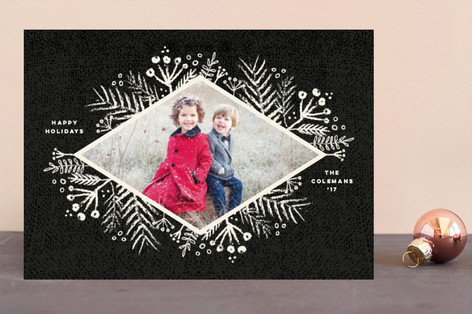 Rustic Berries Holiday Photo Cards