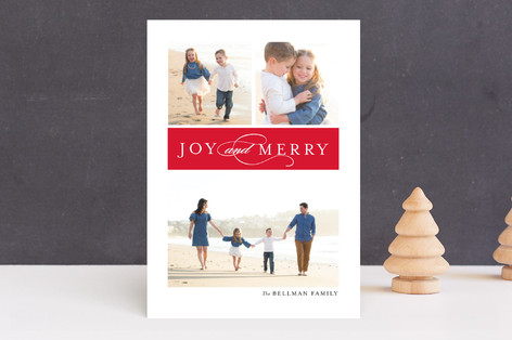 Multi Script Holiday Photo Cards