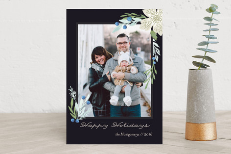 Xmas Juniper Holiday Photo Cards