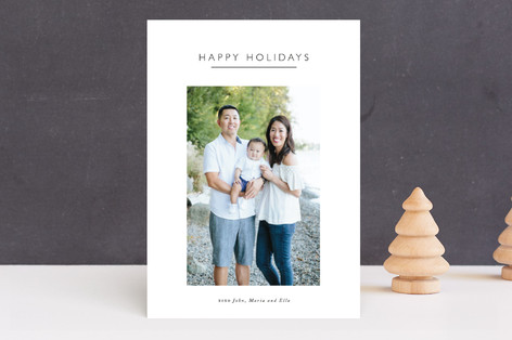 Boxed Minimalist Holiday Photo Cards