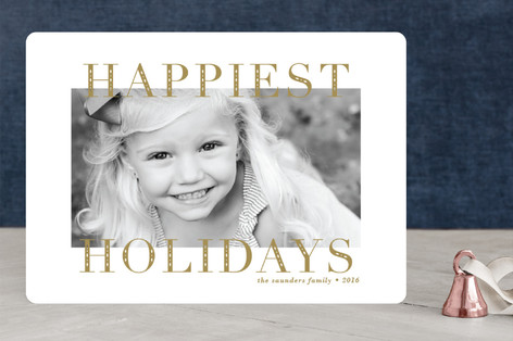 Engraved Holiday Photo Cards