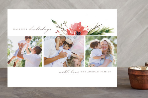 Multi Floral Holiday Photo Cards