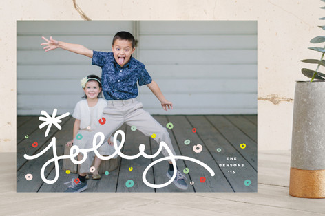 Jolly Confetti Holiday Photo Cards