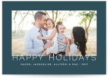 Minimalistic Chic Holiday Photo Cards