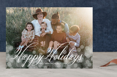 Christmas Glow Holiday Photo Cards