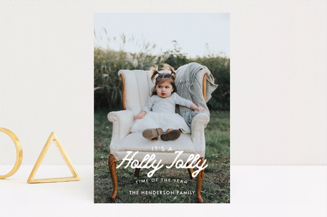Vintage Merry Holiday Photo Cards