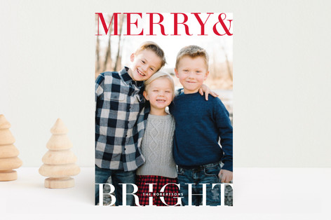 Topper Holiday Photo Cards