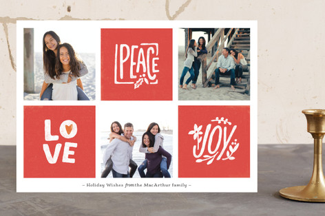 Checkerboard Holiday Photo Cards