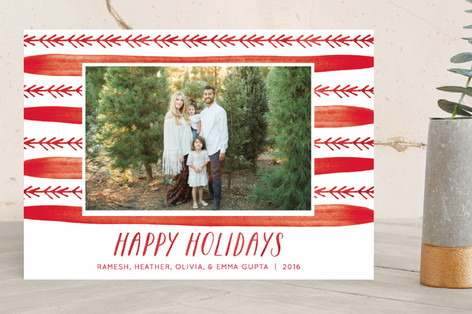 Merry Pattern Holiday Photo Cards