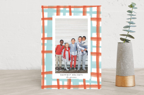 Rad Plaid Holiday Photo Cards