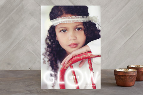 Let It Glow Holiday Photo Cards