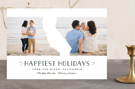 California Love Holiday Photo Cards