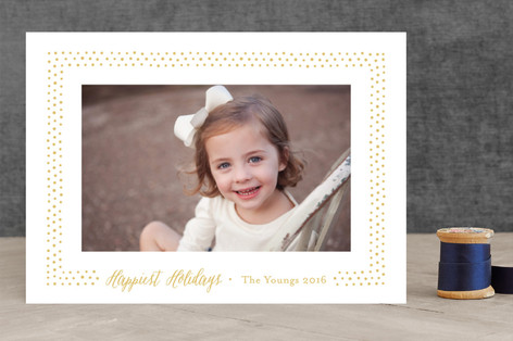 Hobnail Dots Holiday Photo Cards