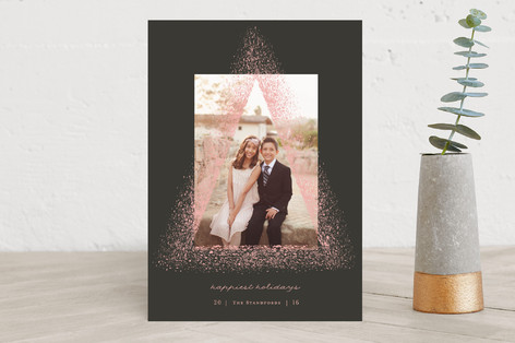 Sparkling Christmas Tree Holiday Photo Cards