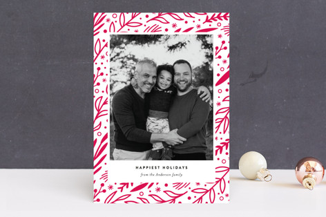 Rustic Branches Holiday Photo Cards