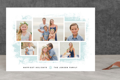 Frosted Wall Gallery Holiday Photo Cards
