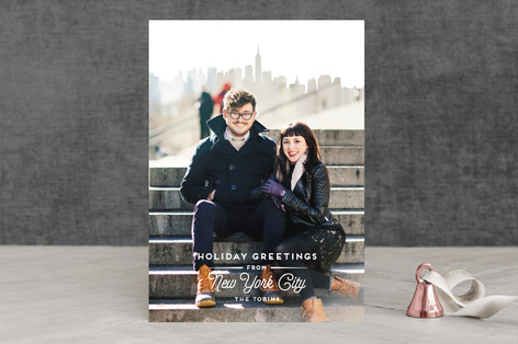 City Greetings Holiday Photo Cards
