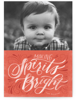 Lettered Stamp Holiday Photo Cards