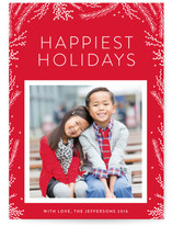Festive Branches Holiday Photo Cards