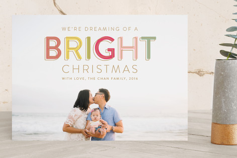 Bright Wishes Holiday Photo Cards