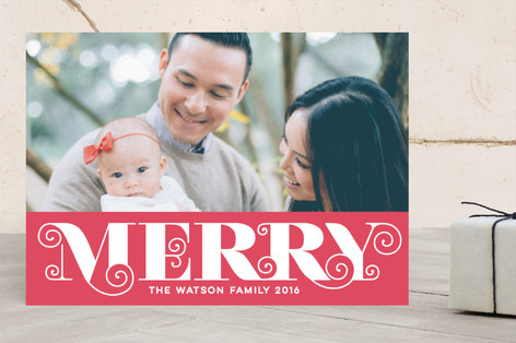 Merry Elegance Holiday Photo Cards
