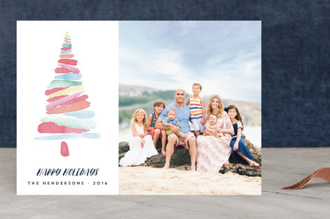Artistic Tree Holiday Photo Cards