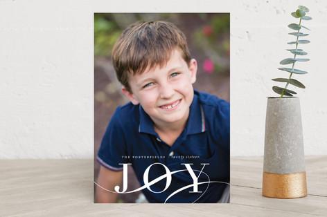 Elegant Joy Holiday Photo Cards