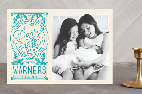 Peace Wonder Love Holiday Photo Cards