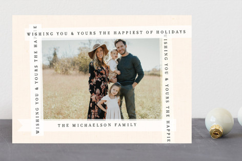 Type Ribbon Holiday Photo Cards