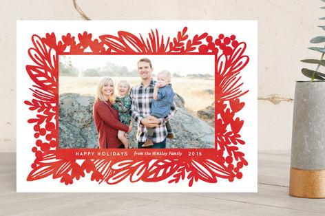 Bold Botanical Holiday Photo Cards