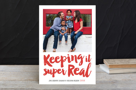 Keeping it Real Holiday Photo Cards