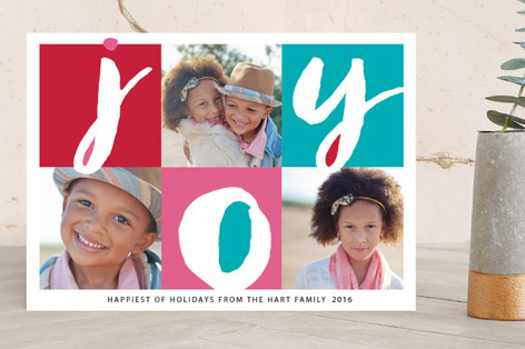 Cubism Holiday Photo Cards