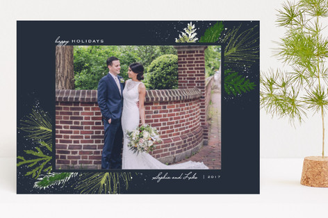 Snowy Splash Holiday Photo Cards
