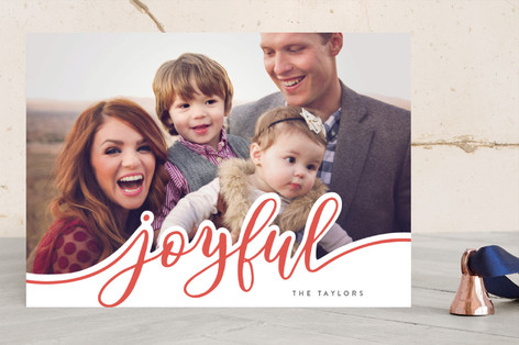 Bold Merry Holiday Photo Cards